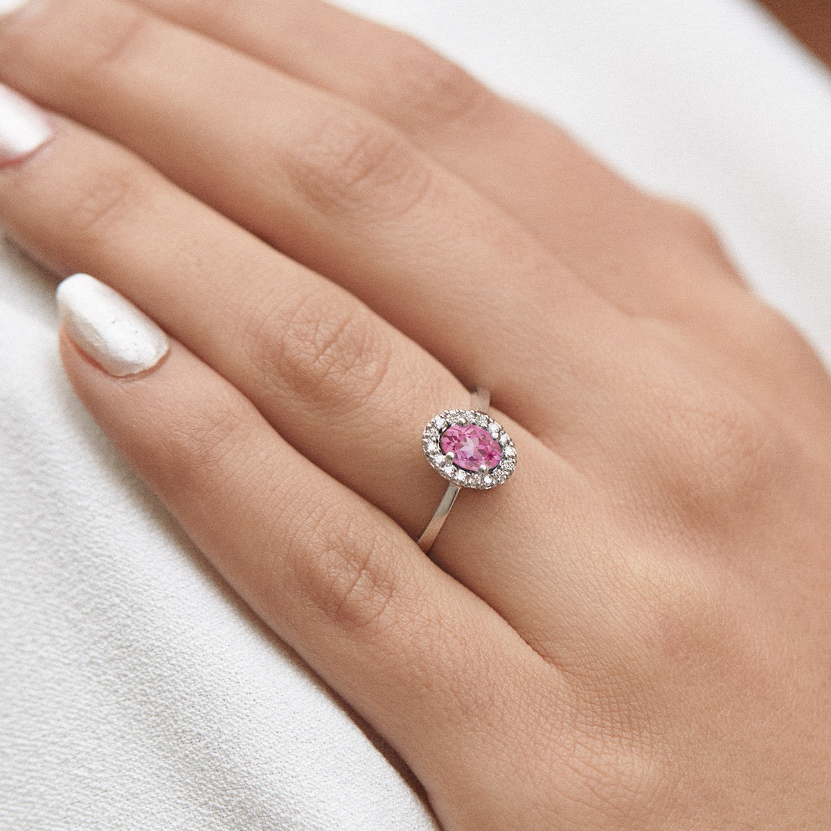 růžový safír